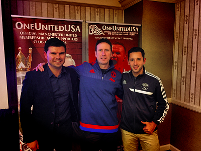 Clarkstown Soccer Club welcomed Manchester United's Head Athletic Trainer, Tony Strudwick